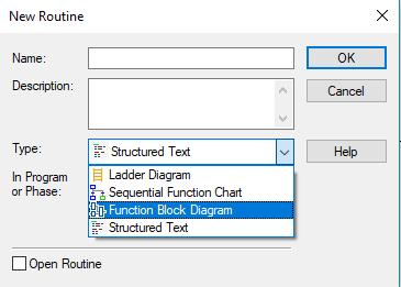 plc programming FBD Routine plc