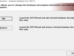 EDS File Installation via RSLinx EDS Hardware Installation Tool